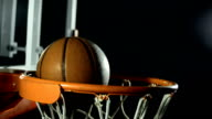 HD Super Slow-Mo: Basketball Going Through A Hoop