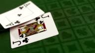 HD Super Slow-Mo: Blackjack Starting Hand