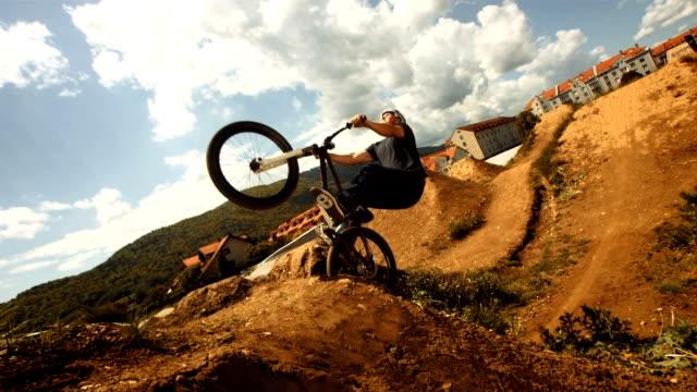 HD Super Slow-Mo: Bmx Dirt Backflip Trick