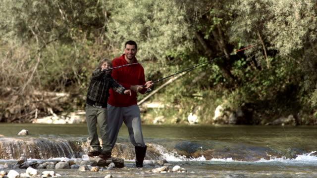 HD Super Slow-Mo: Boy Swinging The Fishing Rod