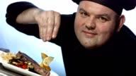 HD Super Slow-Mo: Chef Sprinkling Seasoning
