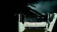 HD Super Slow-Mo: Computer Printer On Fire