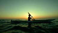 HD Super Slow-Mo: Kayaking At Sunset
