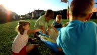 HD Super Slow-Mo: Kids Playing In A Sandbox