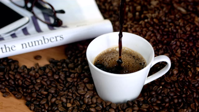 HD Super Slow-Mo: Morning With Black Coffee