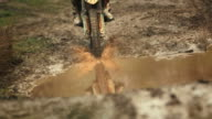HD Super Slow-Mo: Motocross Racing In The Mud