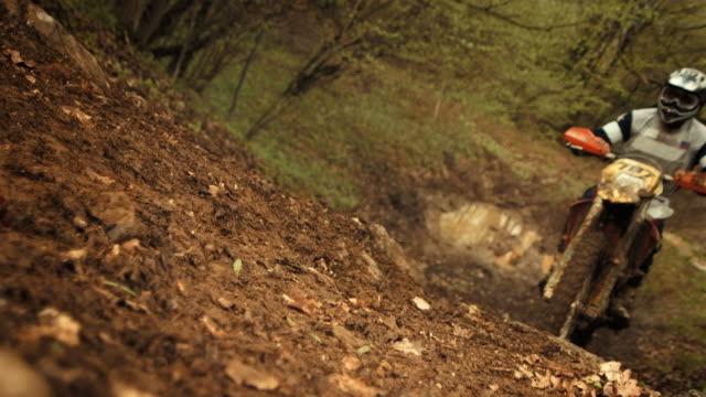 HD Super Slow-motion: Motociclista di Motocross Salto
