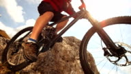 HD Super Slow-Mo: MTB Jumping On Extreme Mountain Trail