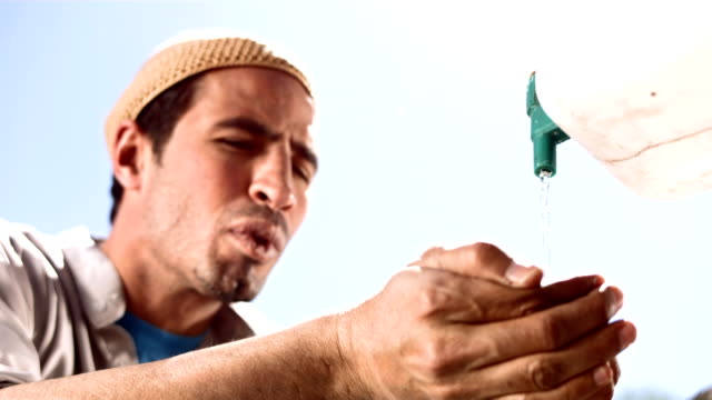 HD Super Slow-Mo: Muslim Process Of Ablution