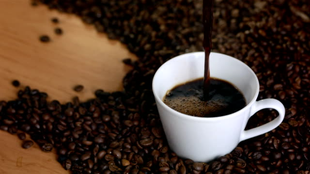 HD Super Slow-Mo: Pouring Black Coffee