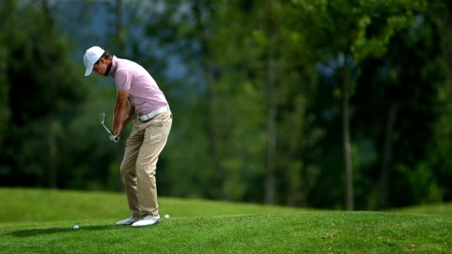 HD Super Slow-Mo: Professional Golfer In Action