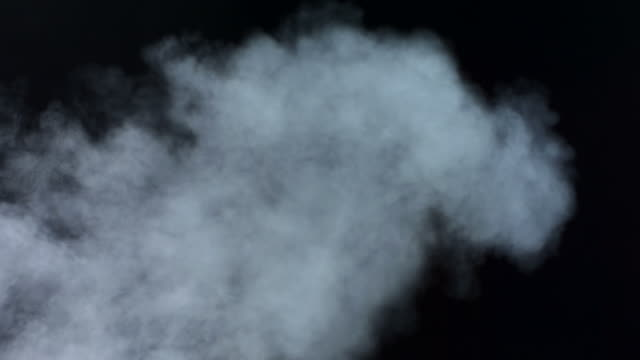 HD Super Slow-Mo: Real Smoke Over Black Background