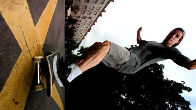 HD Super Slow-Mo: Skateboarder Jumping Over The Camera