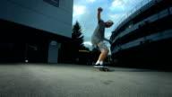 Super Zeitlupe, HD: Skateboarder Flip Trick durchführen
