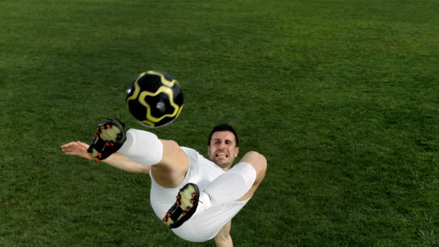HD Super Slow-Mo: Soccer Player Doing Bicycle Kick