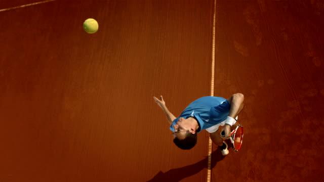 Super Zeitlupe, HD: Tennis-Spieler, die auf der Clay Court