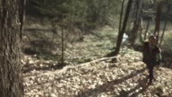 HD Super Slow-Mo: Throwing Hatchet At A Tree