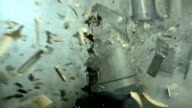 HD Super Slow-Mo: Vintage Electric Mixer Explosion