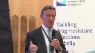 Jim O'Neill press conference O'Neill press conference SOT conclusion of press conference on cutting use of antibiotics CUTAWAYS of O'Neill press...