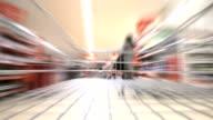 Supermarket shopping. HD