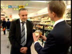 Supermarkets report on attempts to reduce packaging waste Stuart Lendrum LIVE interview SOT On Sainsbury's policy on waste reduction in packaging
