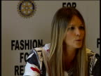 Supermodels promote Fashion for Relief campaign Elle MacPherson press conference SOT On why she is supporting the Fashion for Relief campaign