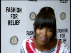 Supermodels promote Fashion for Relief campaign Naomi Campbell interview SOT Describes the Fashion for Relief UK event and problems faced by UK flood...