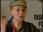 Supermodels promote Fashion for Relief campaign Vivienne Westwood interview SOT Speaks about when she first met Naomi Campbell / the work done by the...