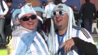 Supporters arrive at the La Portada stadium in La Serena to attend the Argentina Paraguay game on the third day of Copa America