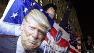 Supporters during an ANTITRUMP Protest on East 57th Street and 5th Avenue –adjacent to the Trump Tower on 5th Avenue / Palestinian people and...