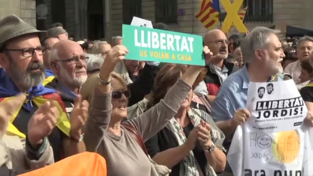 Supporters of Catalan independence demonstrated outside the region's government headquarters on Thursday chanting Puigdemont is our president as...