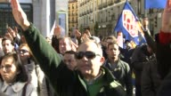 Supporters of former dictator Francisco Franco and founder of the rightwing Falange nationalist movement Juan Antonio Primo de Rivera gathered at the...
