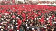Supporters of Turkish President Recep Tayyip Erdogan at a political rally in Sakarya
