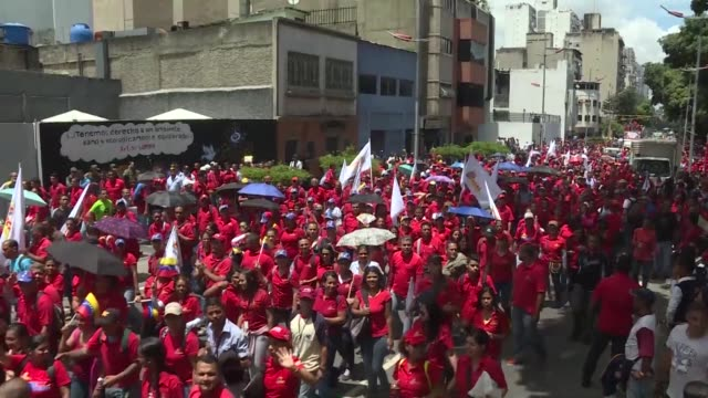 Supporters of Venezuela's new Constituent Assembly gather for a rally on Monday in Caracas