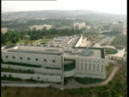 AERIAL WS Supreme Court of State of Israel in new city of Jerusalem, Israel