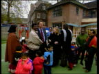 Sure start programme ITN ENGLAND London Thomas Coram Campus Brunswick Square TCMS woman with toddlers in nursery class and PM Tony Blair next...