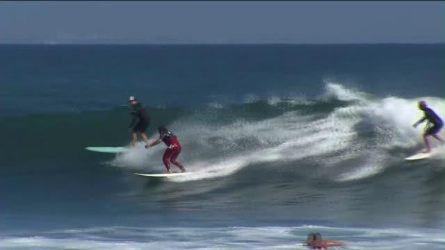 Surfers in Malibu
