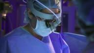 CU Surgeon and nurses operating in operation theatre / Rockford, Illinois, USA