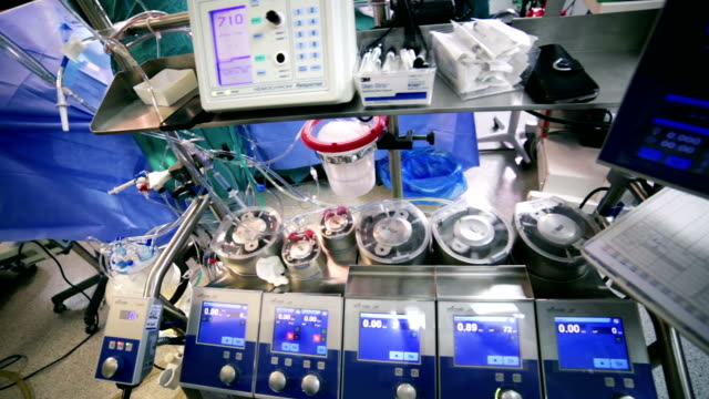 Surgery. Cardiopulmonary bypass machine