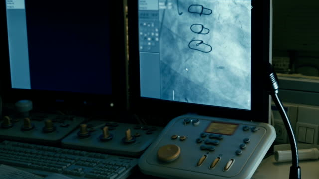 Operation control panel. Die Blutgefäße der auf dem Bildschirm