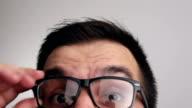 Verrast met brillen mensen portret
