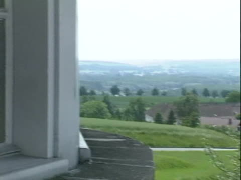 / surrounding countryside viewed from the walls of the Mauthausen concentration camp