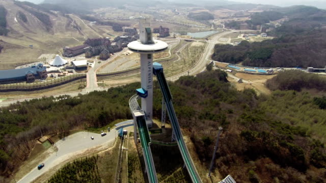Surrounding landscape of the ski resort at Pyeongchang(Location for the 2018 winter Olympics)