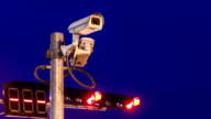 surveillance camera and traffic light