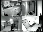 / surveillance video of a prisoner beating a security guard / guard being attacked guard tries to fight back but suspect gets him on the ground and...