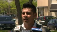 WPIX A survivor of the Pulse nightclub shooting Javier Nava spoke to a crowd in Long Island New York before a rainbow flag raising ceremony to...