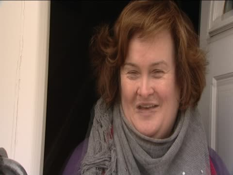 Susan Boyle talks to reporter about music career Blackburn