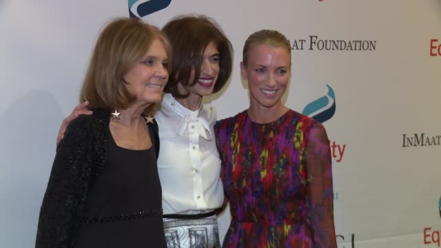Susan Chokachi Gloria Steinem Yasmeen Hassan at 2017 Equality Now Gala at Gotham Hall on October 30 2017 in New York City