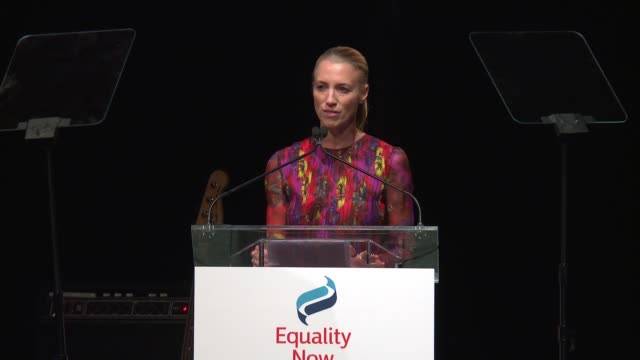 SPEECH Susan Chokachi receives an award at 2017 Equality Now Gala at Gotham Hall on October 30 2017 in New York City