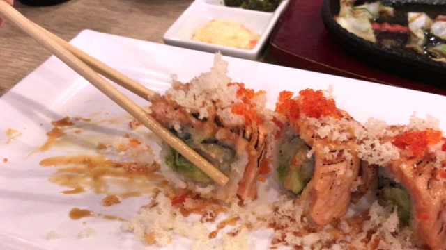 Sushi and maki times, Bangkok family, Thailand with Japanese food